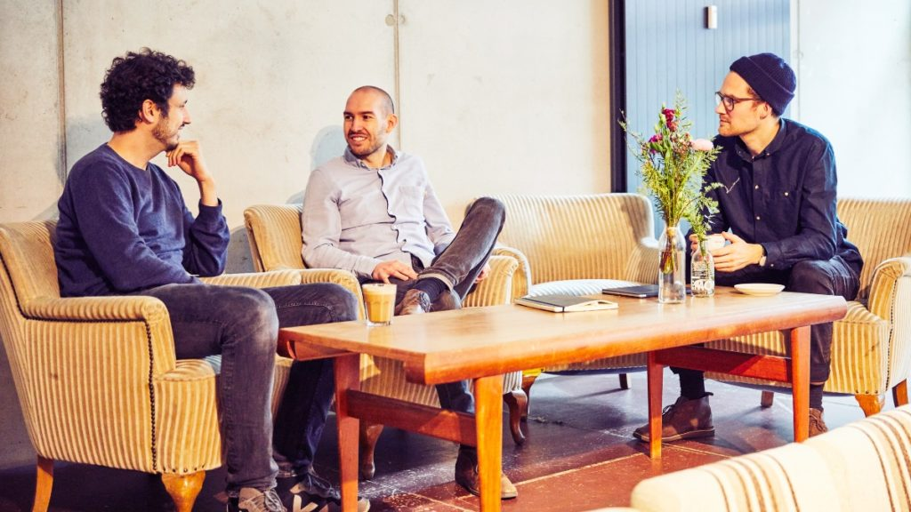 Die Tomorrow-Gründer Inas, Michael und Jakob (von links nach rechts).